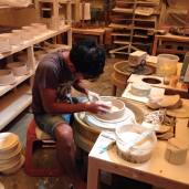 Ceramic artisan at work. Their skill and proficiency is incredible.