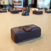 Ylang-honey ganache. Drops of natural ylang essence and sakura honey.