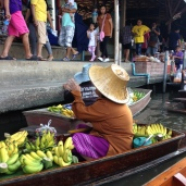 Everything is sold for tourists: fruits, food, trinkets and clothing.