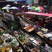 Damnoen Saduak floating market, a day trip away to the west of Bangkok.