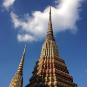 Spires into the sky at Wat Pho.
