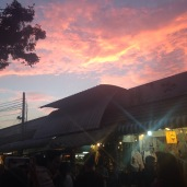 Sunset at Chatuchak Market.
